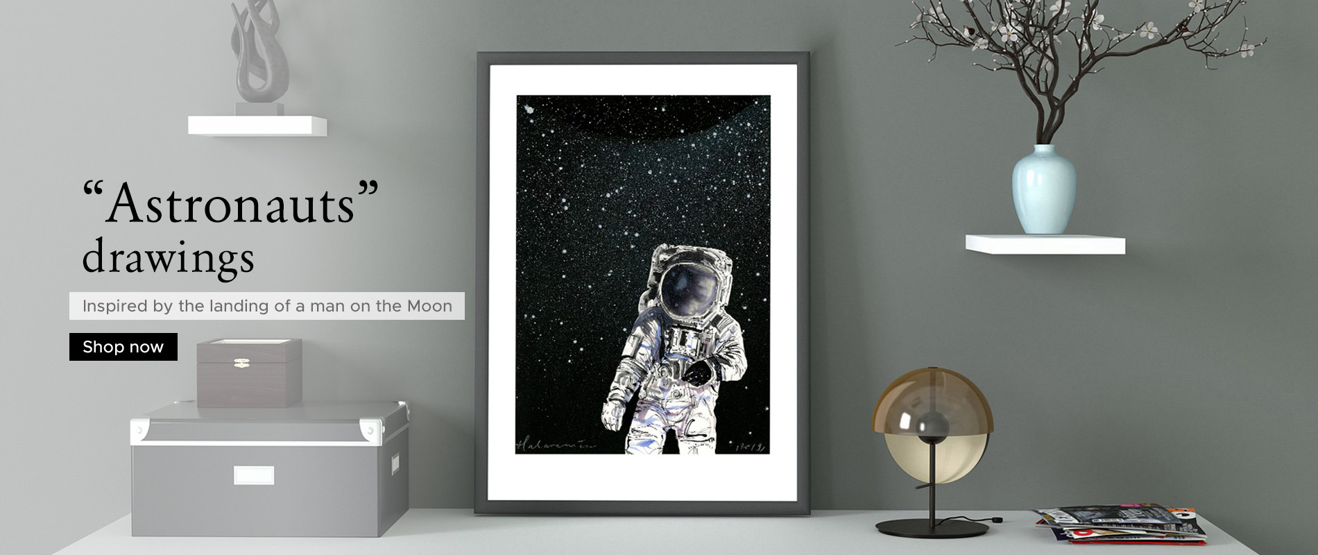 Unique 'Astronauts' drawings