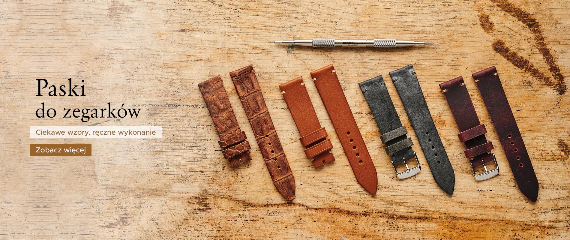 Ręcznie robione paski do zegarków