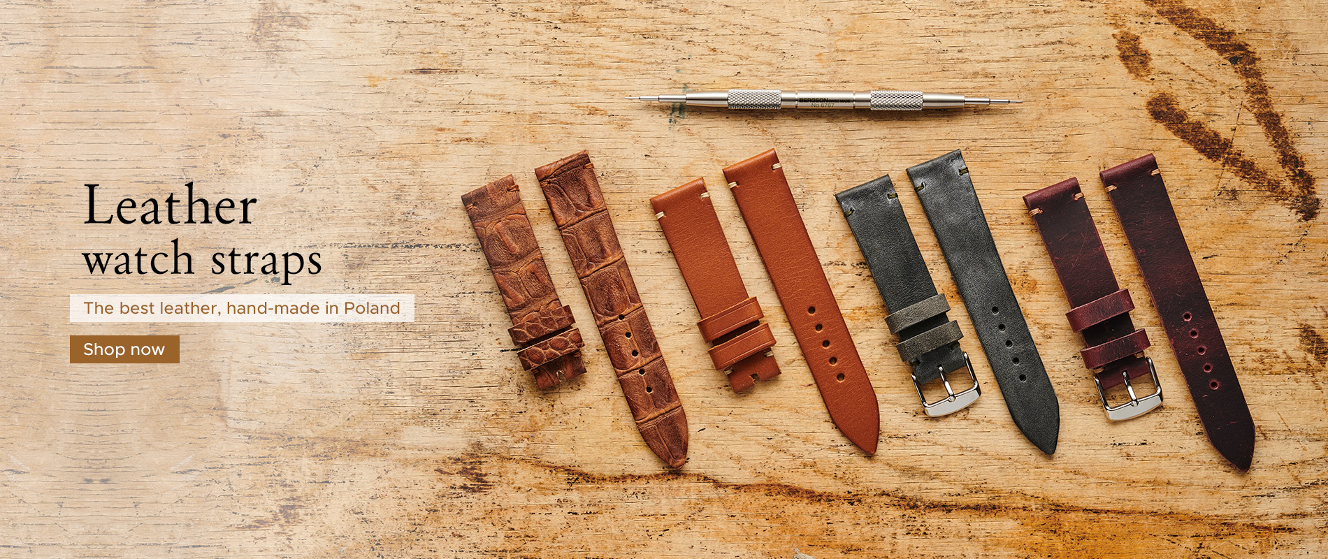 Hand-made watch straps