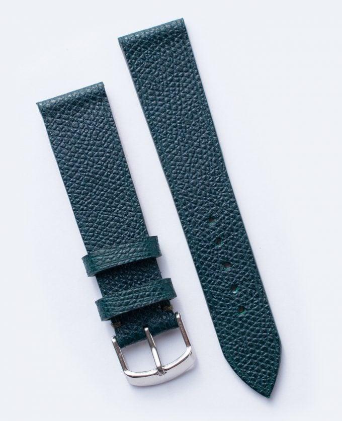 Pasek z zielonej, luksusowej francuskiej skóry Calpé Dauphin 20 mm