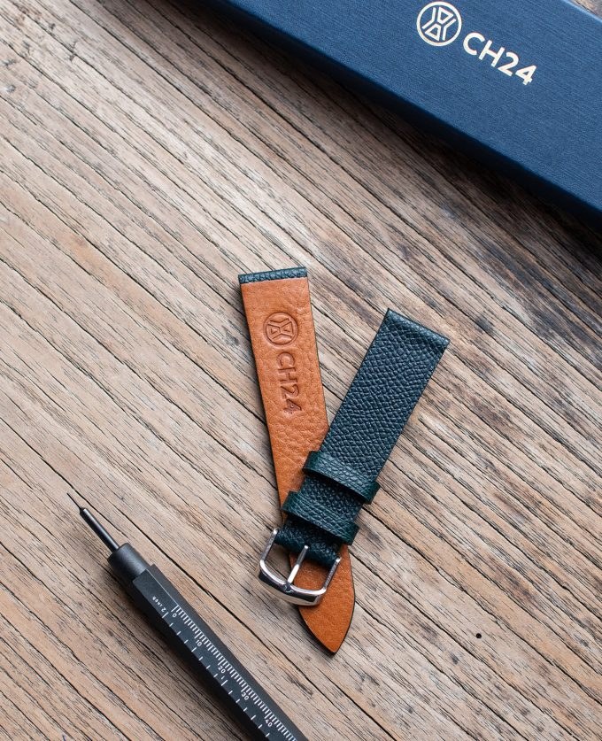 Watch strap made of exclusive green leather Calpé Dauphin 20mm