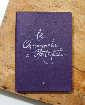 """Montblanc x CH24 - notes """"le Chronographe à Rattrapante"""""""